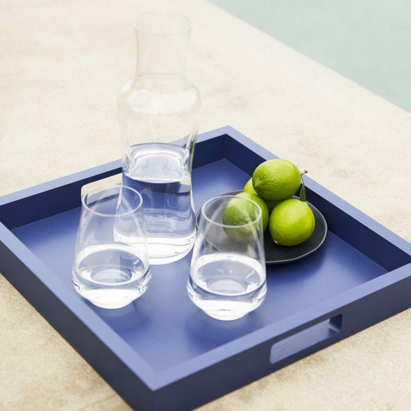 Tour Stemless Wine Glass White Tray Tray Decor Tray