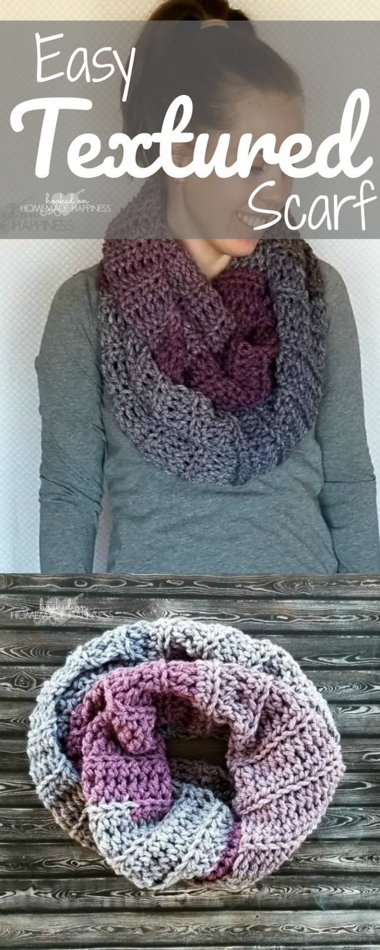 Easy Textured Scarf #crochetscarves