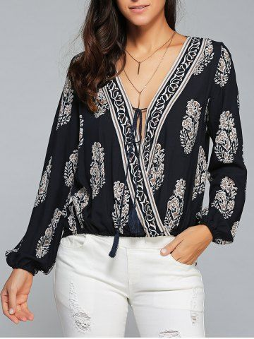 GET $50 NOW   Join RoseGal: Get YOUR $50 NOW!http://www.rosegal.com/blouses/floral-print-surplice-blouse-733408.html?seid=7037712rg733408