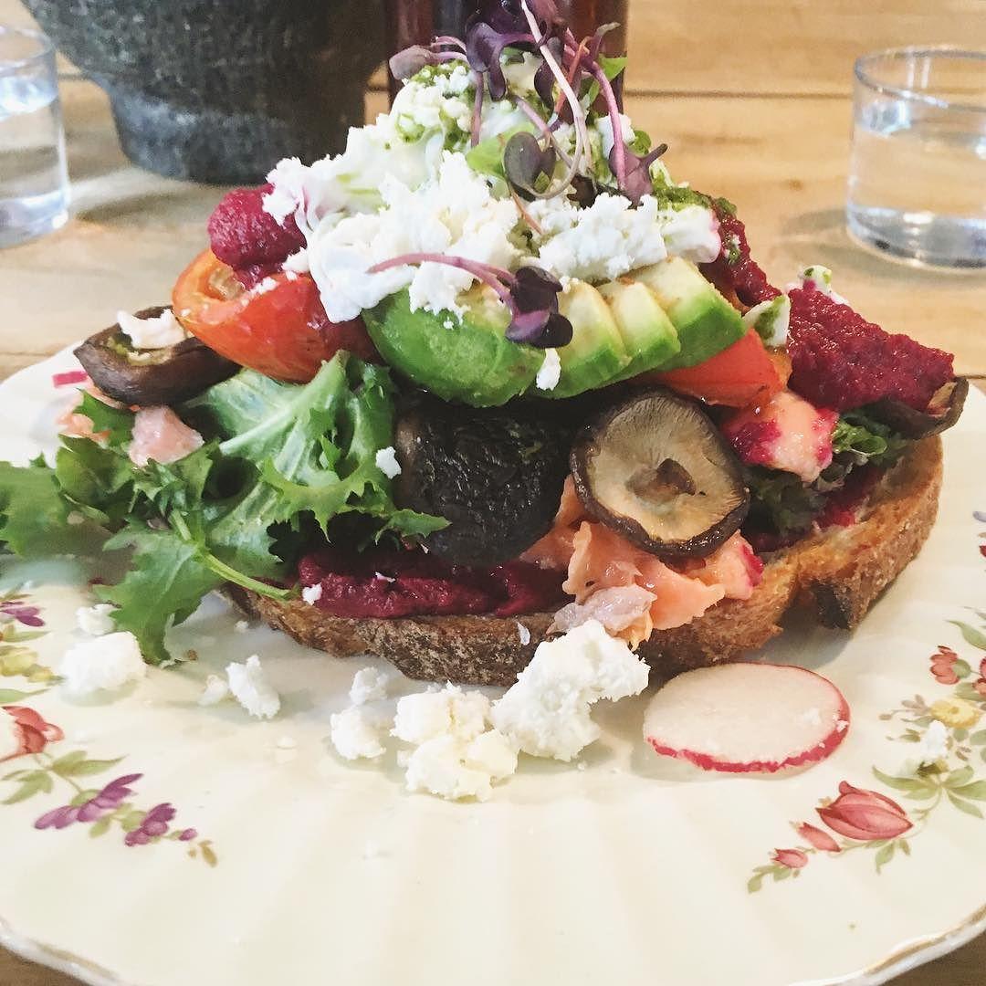 Amazing Ocean trout bruschetta#foodie#breakfast#sydney#australia#cafe#bruschetta by angiesfoodjournal http://www.australiaunwrapped.com/ #AustraliaUnwrapped