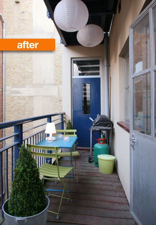 Before and After: English Garden Balcony