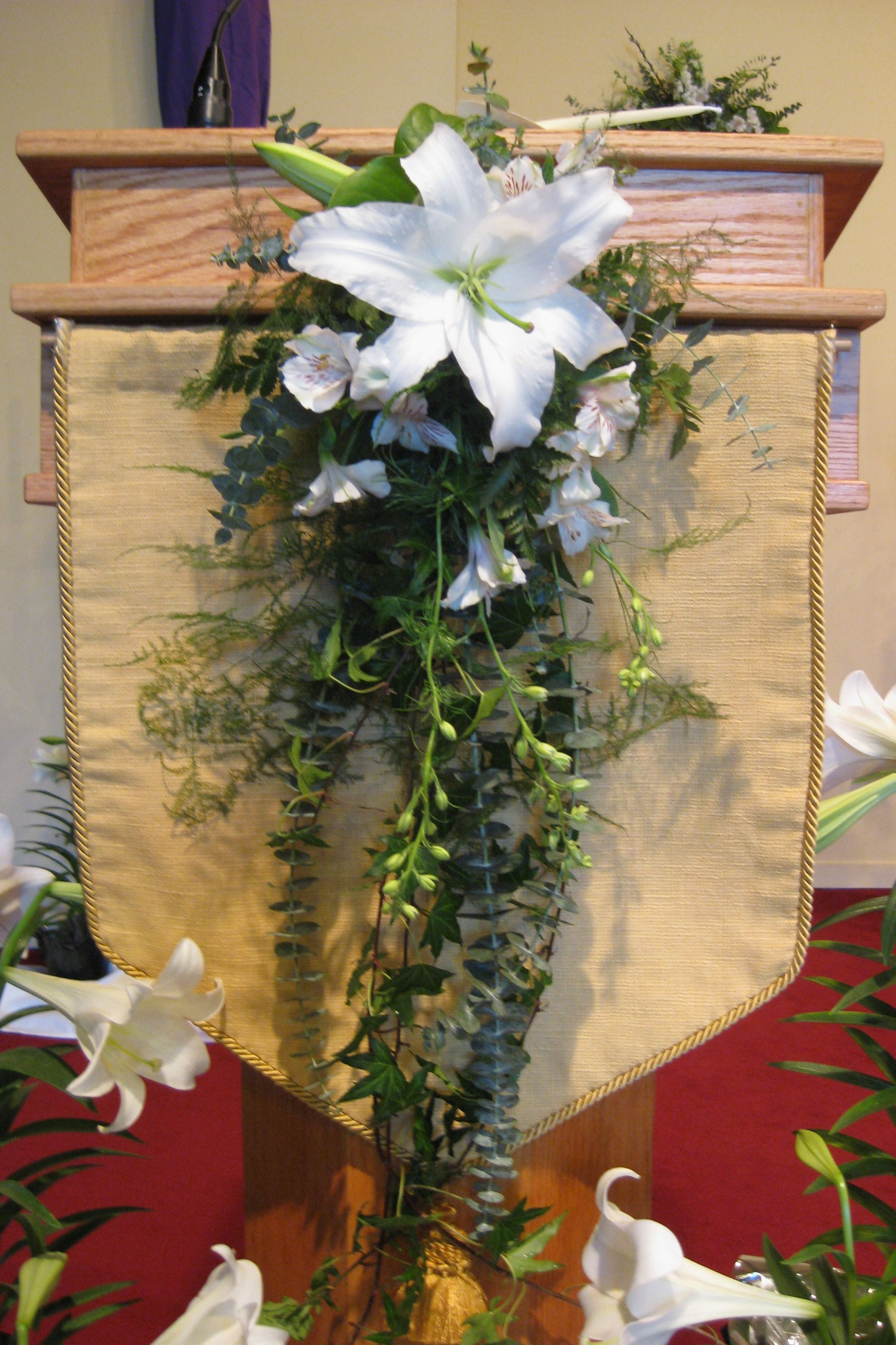 Arrangement Church Altar White 6 Church Decoration