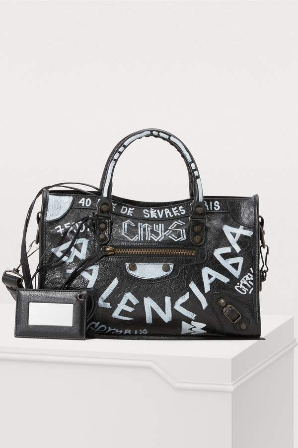 ad8ed2e919b Balenciaga City handbag with graffiti in 2019 | ideas for xmas ...