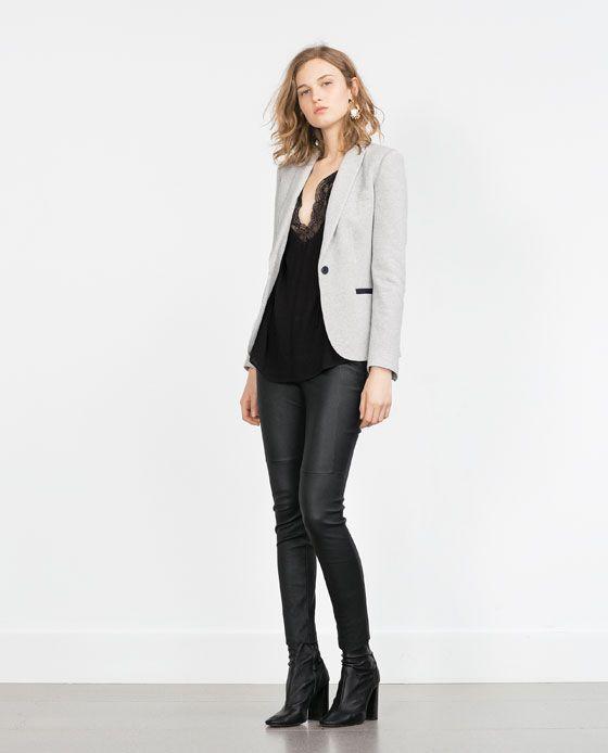 Buenos precios excepcional gama de colores nuevas variedades ZARA - WOMAN - GREY BLAZER | outfits de oficina | Pantalon ...