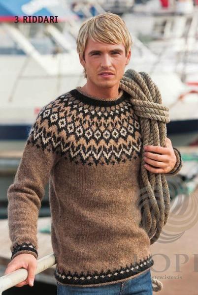 Riddari Knight Mens Wool Sweater Brown Wool Sweater Men
