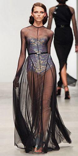 Купить платье черное прозрачное