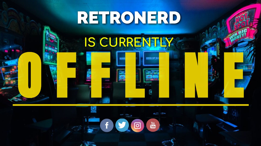 A Retro Gaming Themed Twitch Offline Banner Design Template With