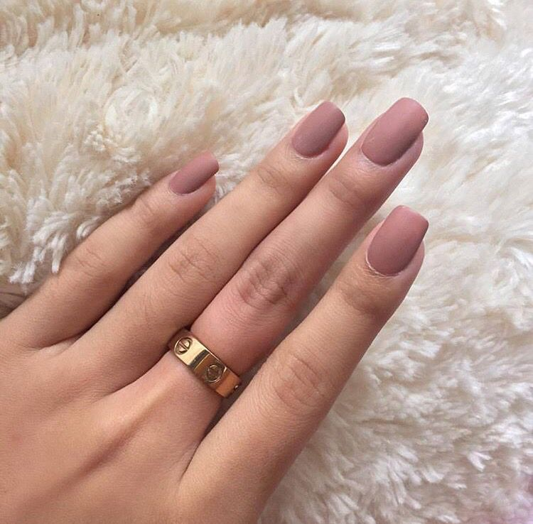 Matte Pink Nails Matte Pink Nails Mauve Nails Cute Acrylic Nails