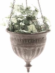 Ampel antik grå brun plåt blomampel hängande blomkruka shabby chic lantlig  stil a54e7dfbfd5aa
