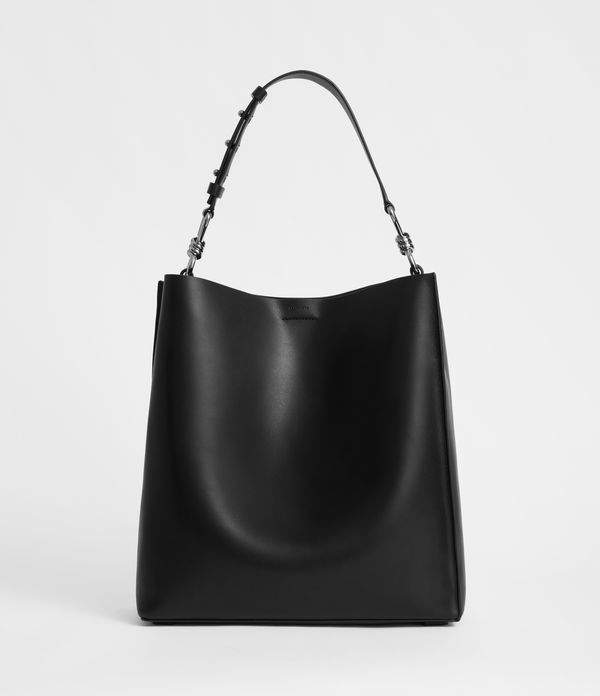 f7fe4faa11bb4 ShopStyle Collective Allsaints Tote Bags, Leather Slip Ons, Cow Leather,  North South,