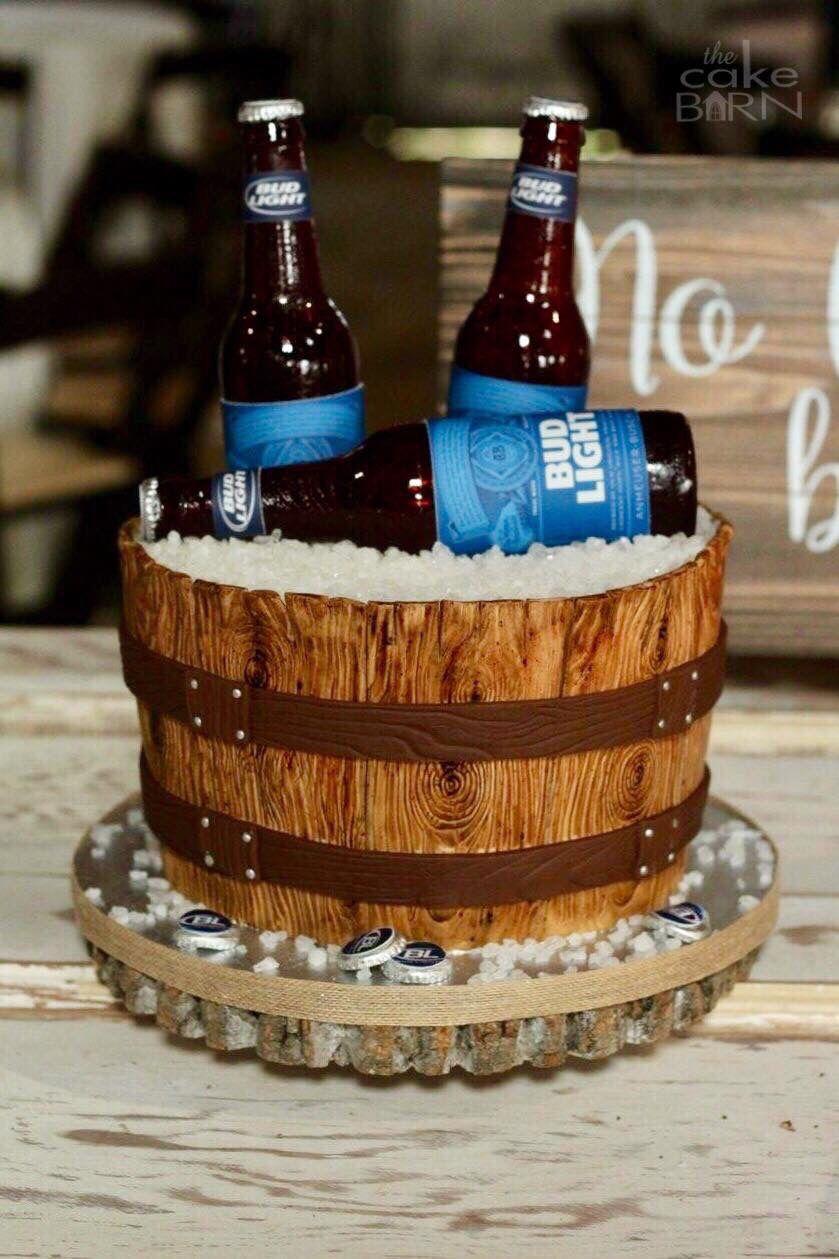 Bucket Of Beer Grooms Cake Beer Bucket Cake Beer Grooms Cake Beer Cake