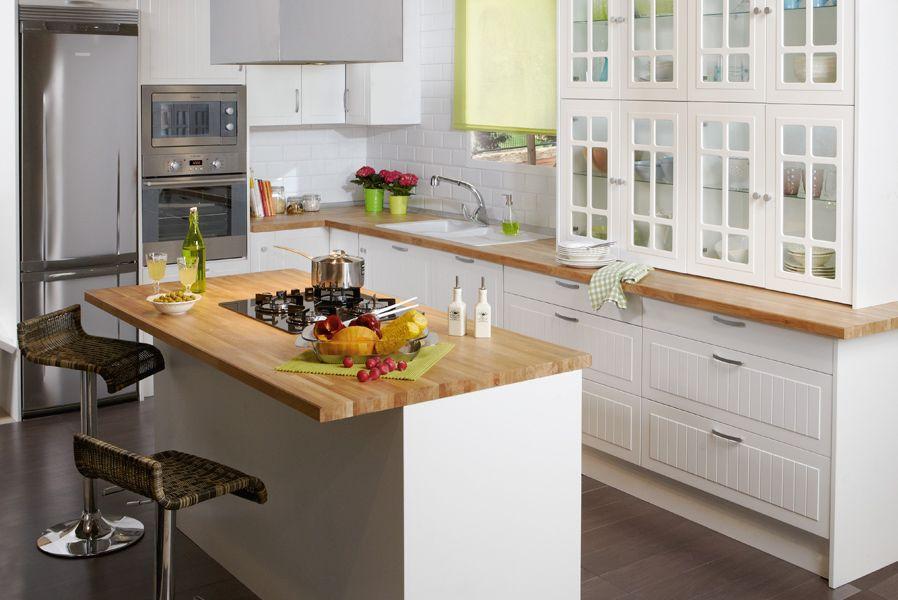 Cocinas en las que el blanco da amplitud al espacio - Cocinas leroy merlin opiniones ...