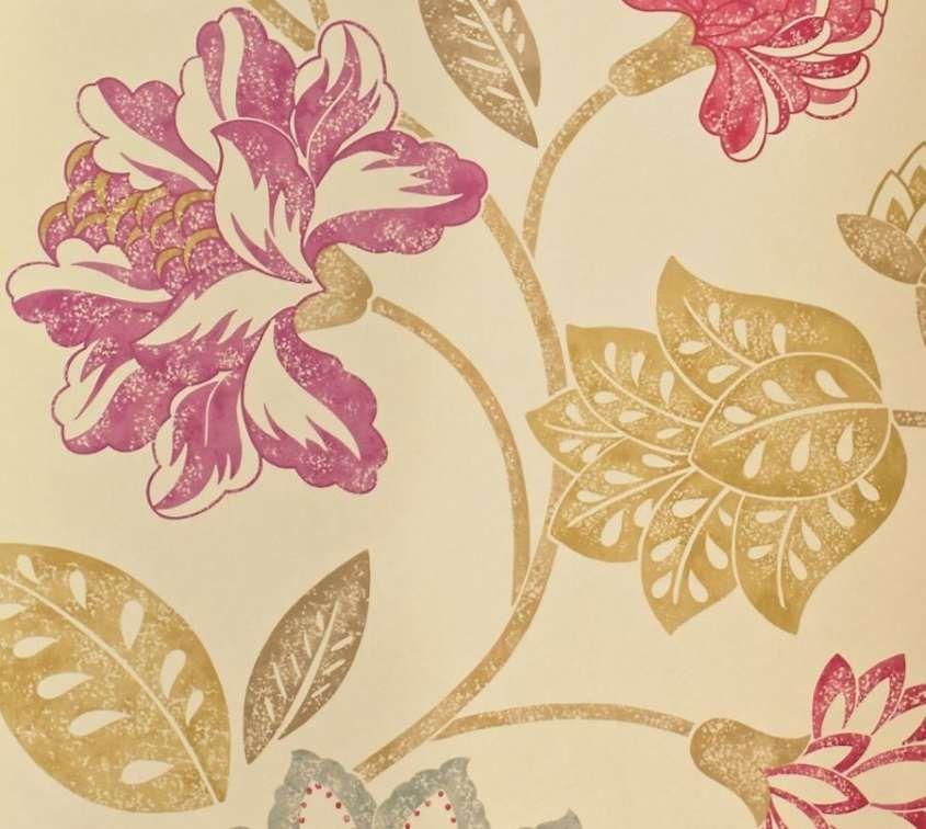 carta da parati anni 50 - carta da parati floreale