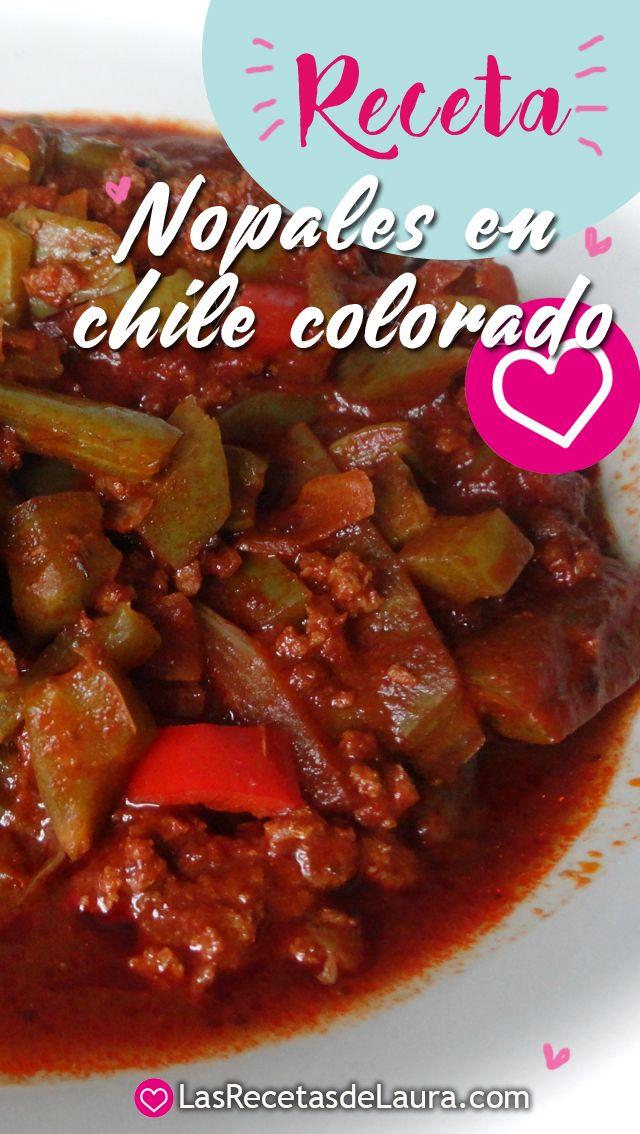 Deliciosa receta de nopales en chile colorado con carne for Platillos faciles y rapidos