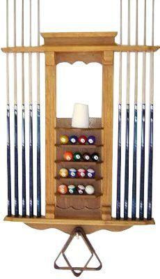 Pool Cue Stick Billiard Ball Wall Rack
