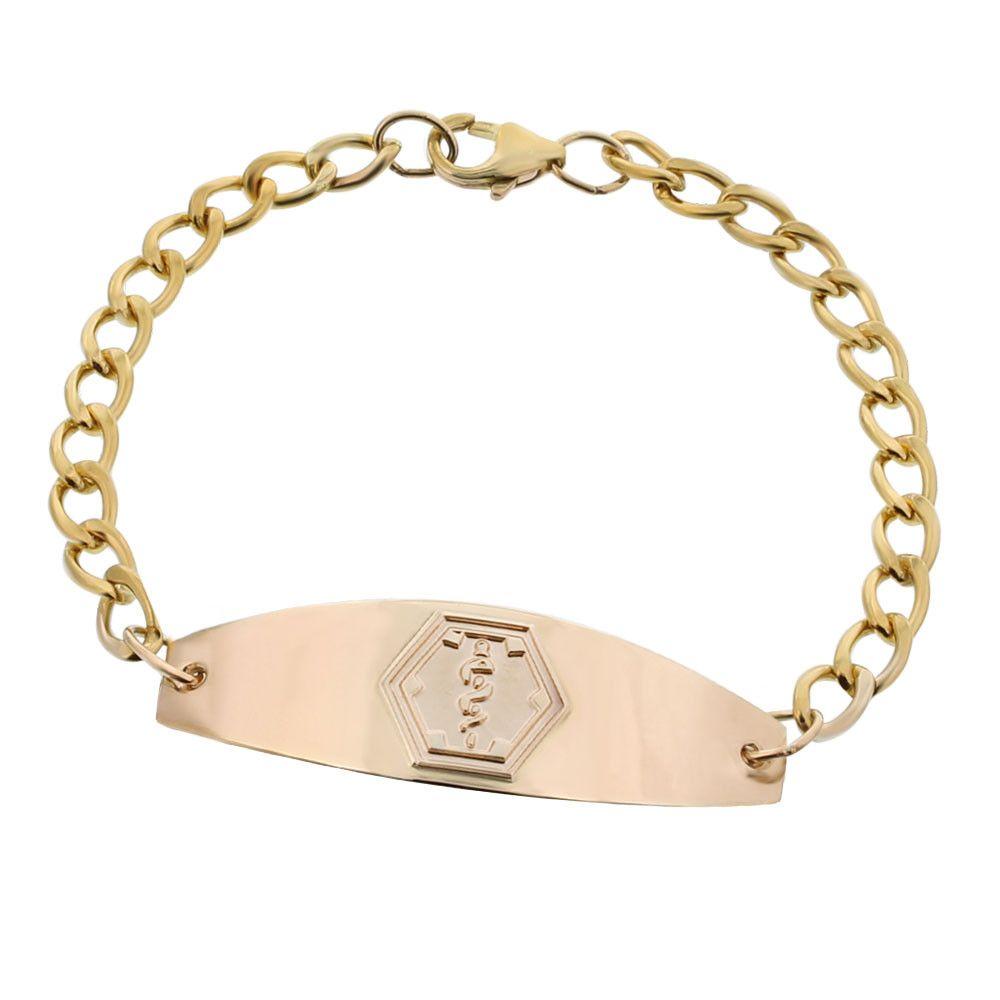 10k Gold Filled Premier Embossed Bracelet Bracelets For Men Bracelets Alert Bracelet