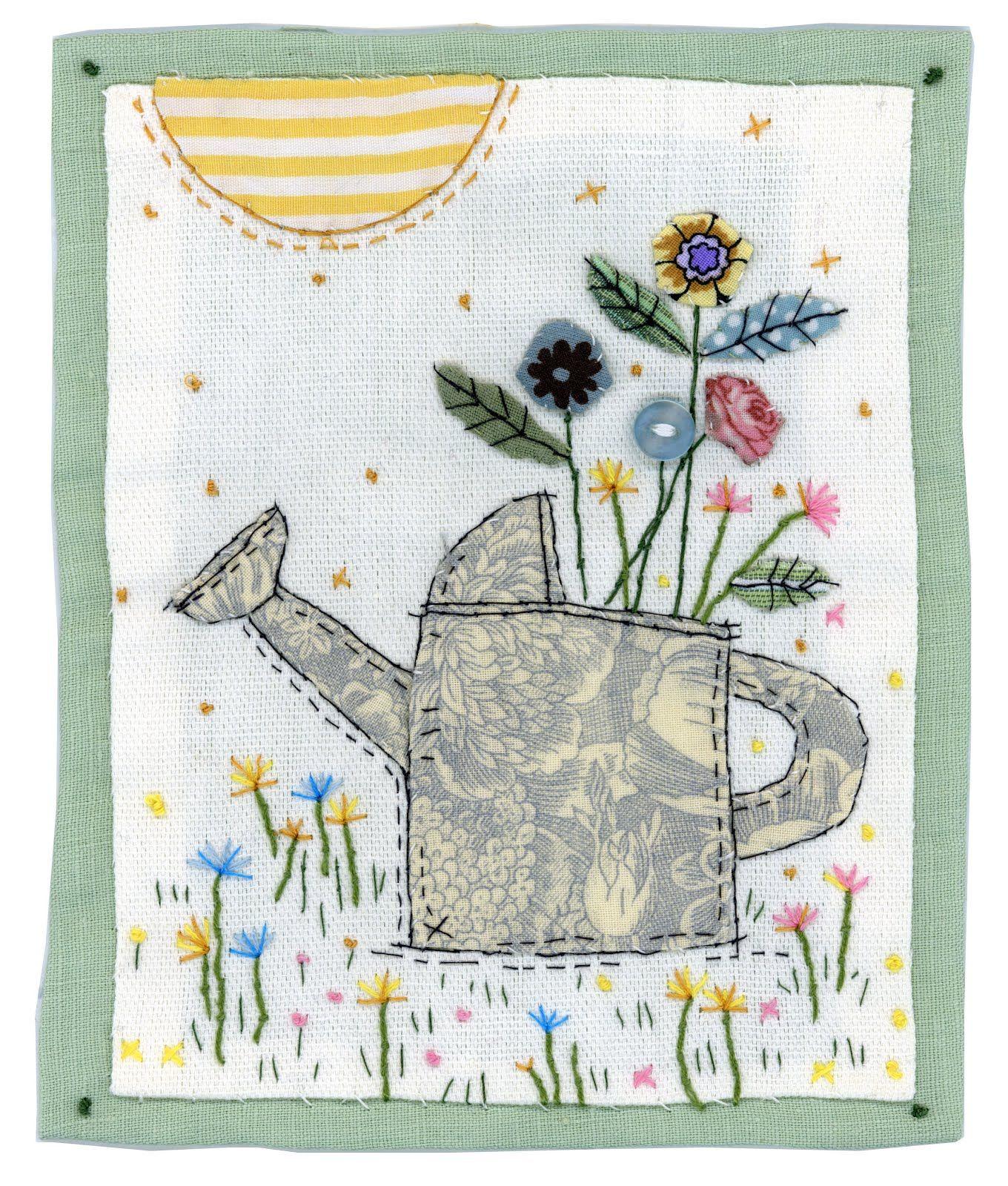 Beach Hut Machine Embroidery Design: Sharon Blackman: Watering Can, Ballet Dancer & Beach Hut
