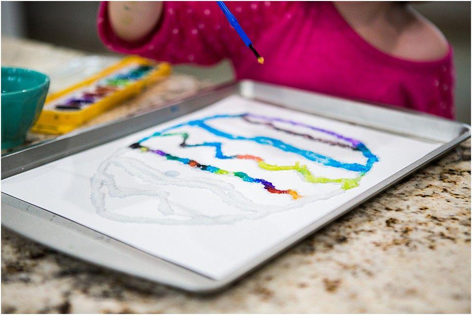 Spring Steam Science Experiment Raised Salt Painting Science Experiments Science Experiments For Preschoolers Salt Painting