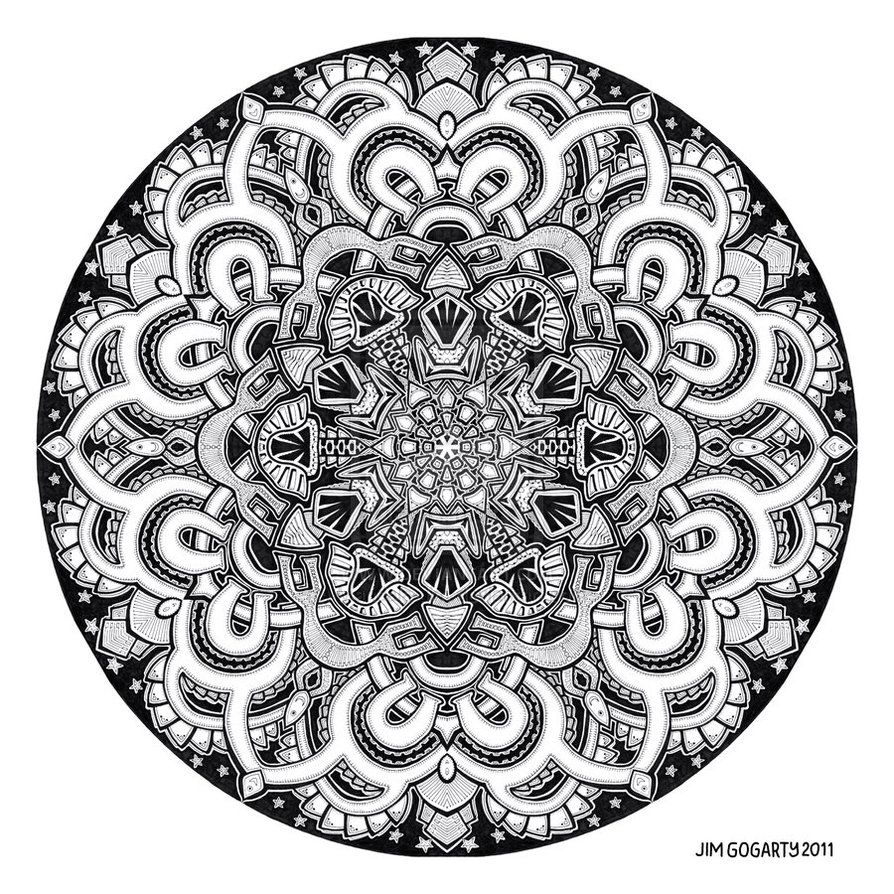 Jewish mandala coloring pages - Mandala Drawing 12 By Mandala Jim On Deviantart