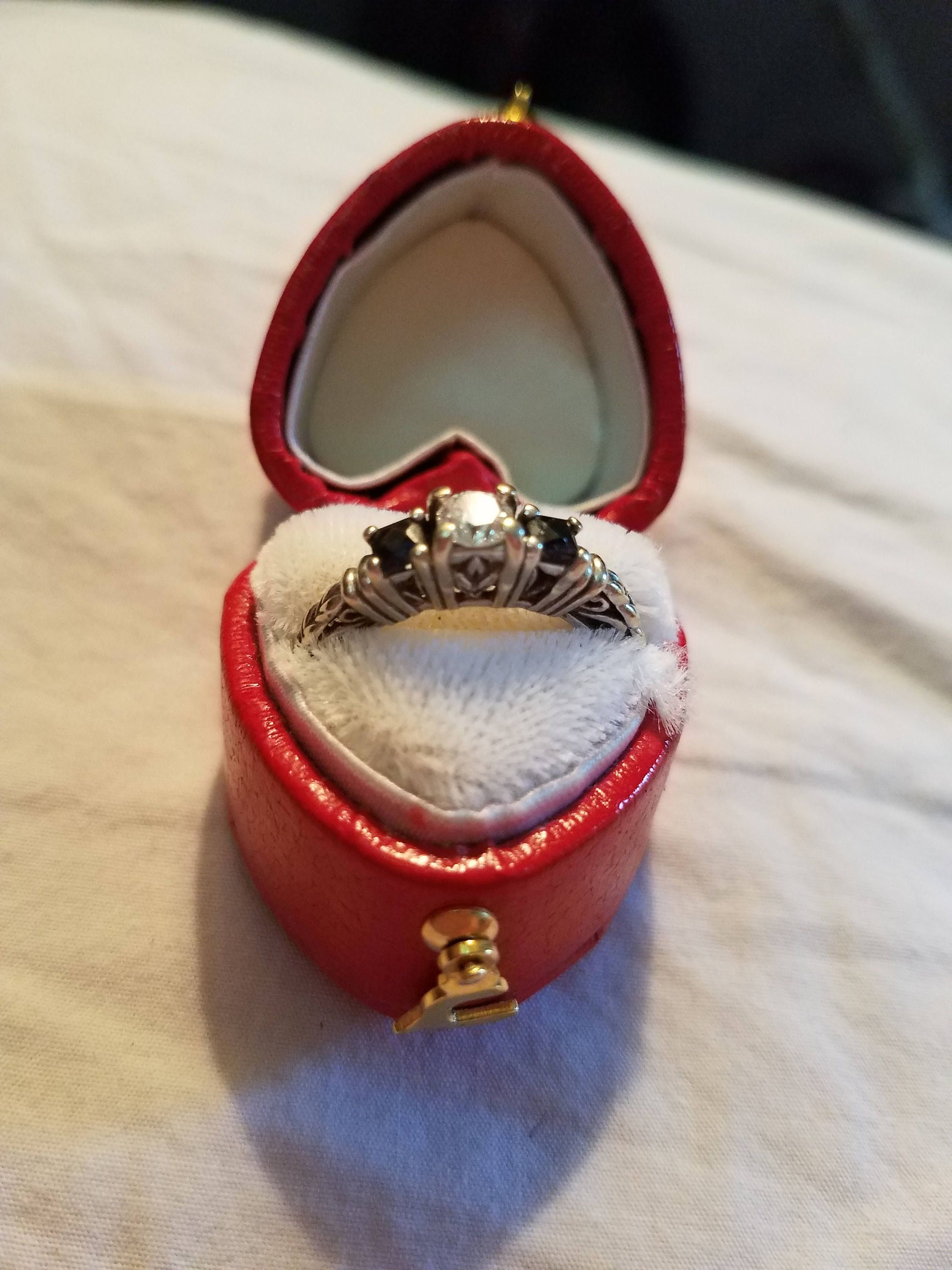 Edwardian style engagement ring JUST APPRAISED diamond and