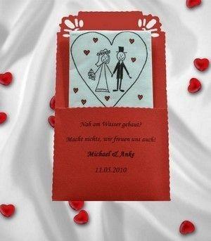 Ein wunderschönes Accessoire für jede Hochzeit!     Taschentuch in personalisierter Einstecktasche aus Tonpapier, beschriftet mit Datum und Name de...