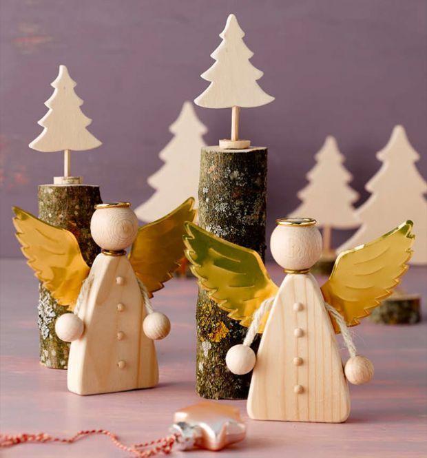 holzdeko für die winterzeit | weihnachtsdeko aus holz selber, Moderne