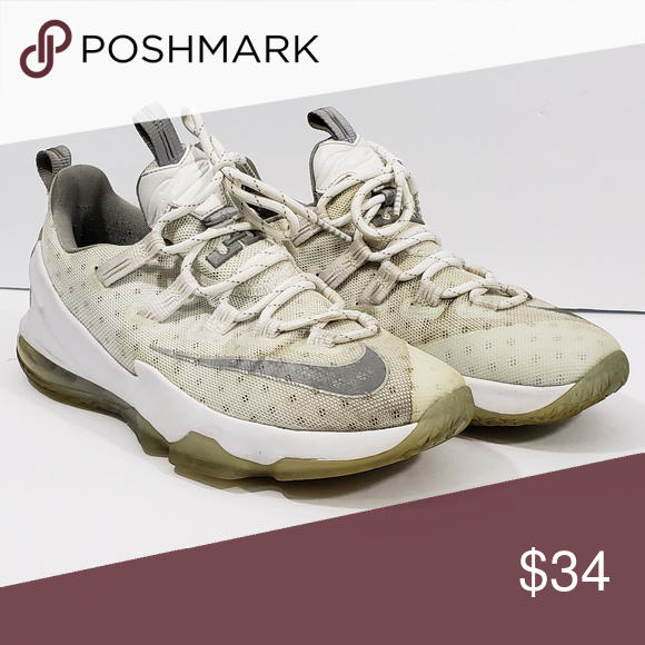 e5dcb0c1251f73 Nike LEBRON 13 XIII Low Men s Shoe Size 8 White Nike LEBRON 13 XIII Low  Men s Shoe Size 8 White Metallic Silver 831925-100. Used Nike Shoes Sneakers