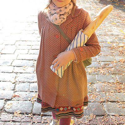 Parisian attire & a classic baguette.
