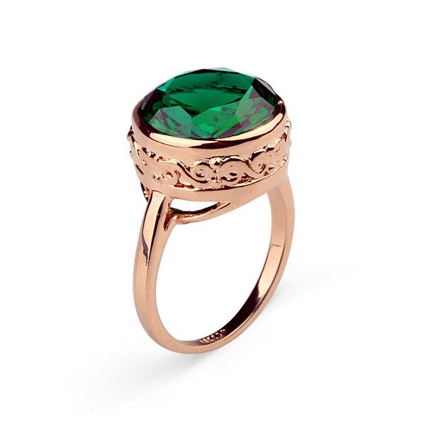 Hot sale dubai gold plated Inlay aaa green zircon antique joias africanas ITALINA green emerald rings for women 95832