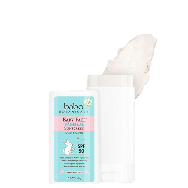 Babo Botanicals Baby Face Sunscreen Stick Spf 50 Mineral Sunscreen Sunscreen Stick Babo Botanicals
