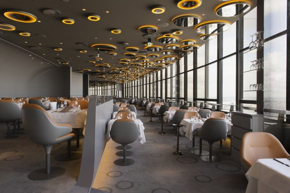 Noé Duchaufour Lawrance Has Designed A Soft And Profound Amber Bubble Of  Light On The Floor Of The Montparnasse Tower: The New Ciel De Paris  Restaurant ... Nice Ideas