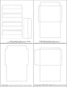 Over 100 Envelope Templates And Tutorials Envelope Template Square Envelopes Envelope