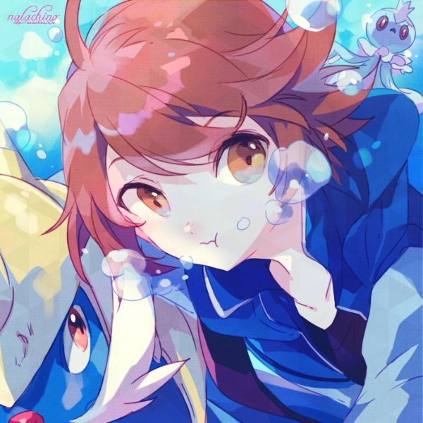 Swimming with pokemon | Trainer Hilbert(Black) | Pinterest ...