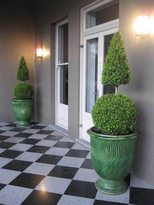 French Anduze Green Striated Pots | Garden urns ...