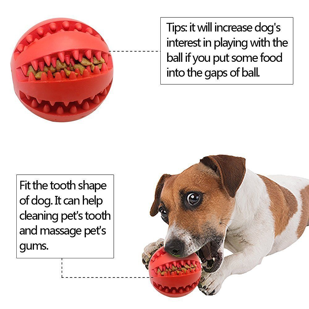 Dog Chew Ball Toy Tooth Cleaning Dental Treat Nontoxic Bite
