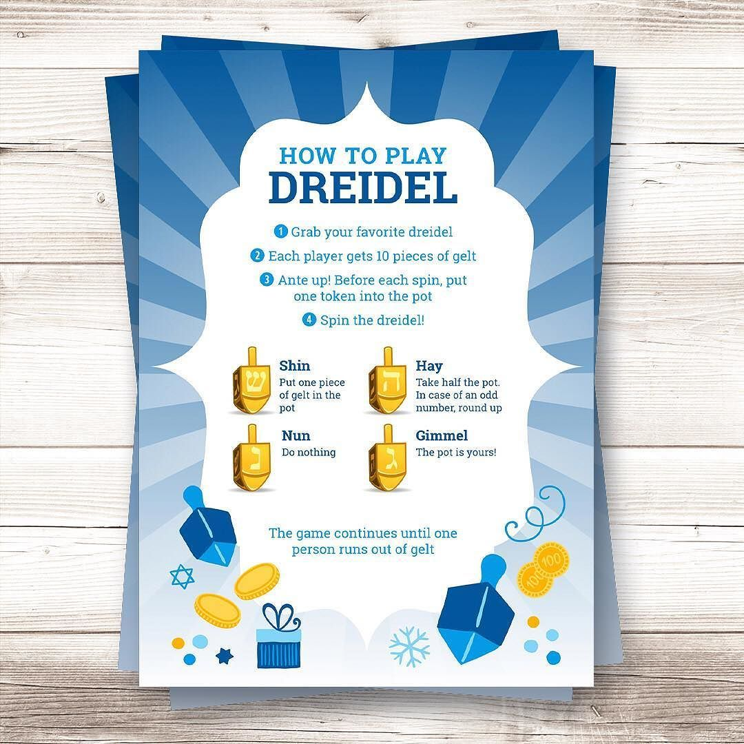 How To S Wiki 88 How To Play Dreidel Printable
