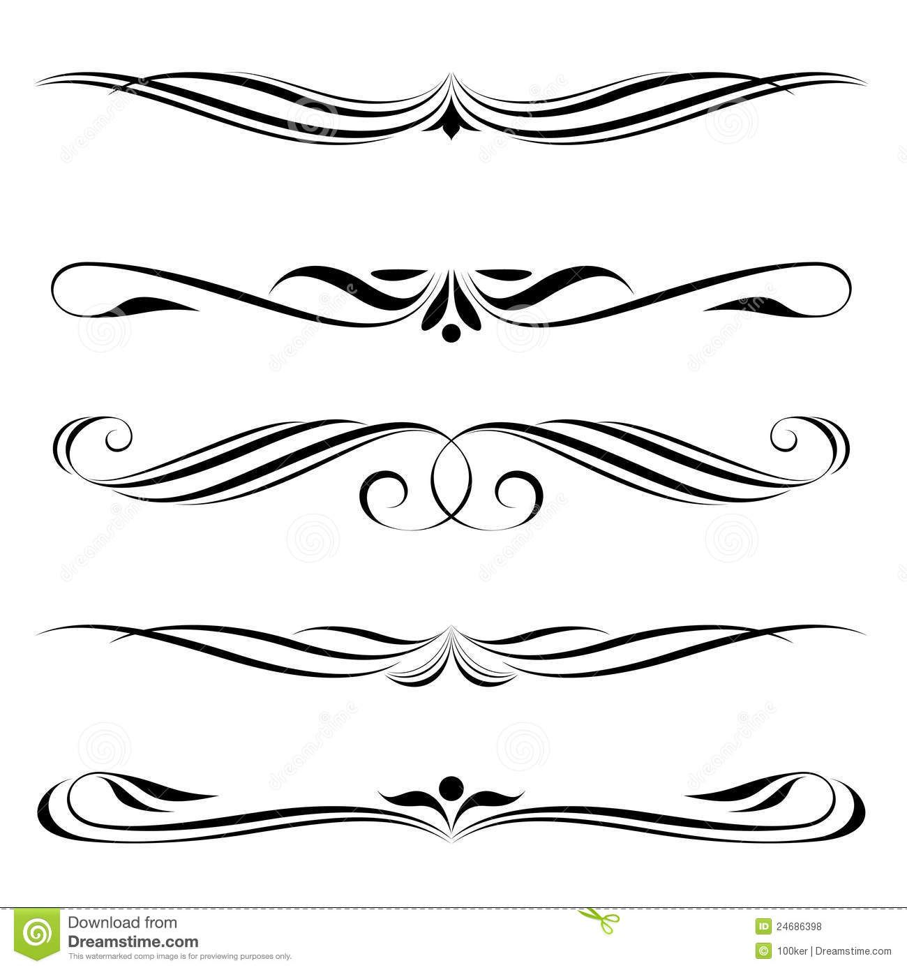 63 Awesome fancy line border clipart