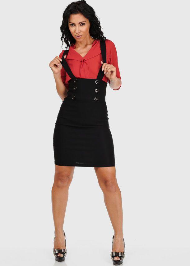 748b66bcdacc High Waist Pencil Skirt with Suspender Straps   PHOTOStodo   Skirts ...