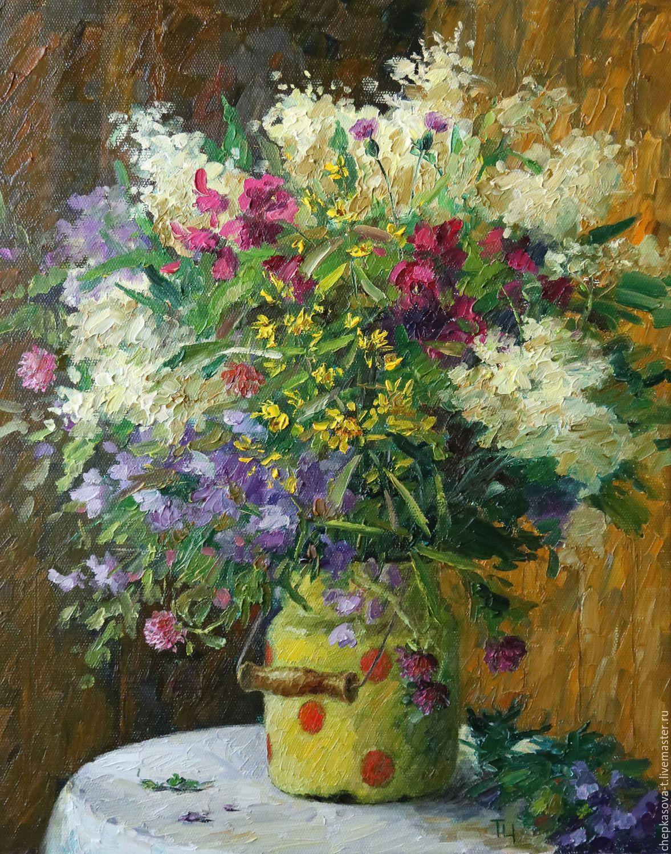 Купить картину полевые цветы на холсте доставка цветов татьяна