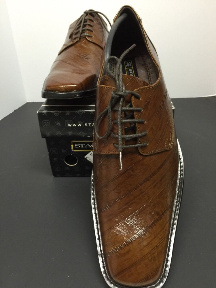 8481b1af7887 Stacy Adams Mateo Tobacco Oxford Dress Shoes 24598 New Men's See Photo for  Print #StacyAdams #Oxfords
