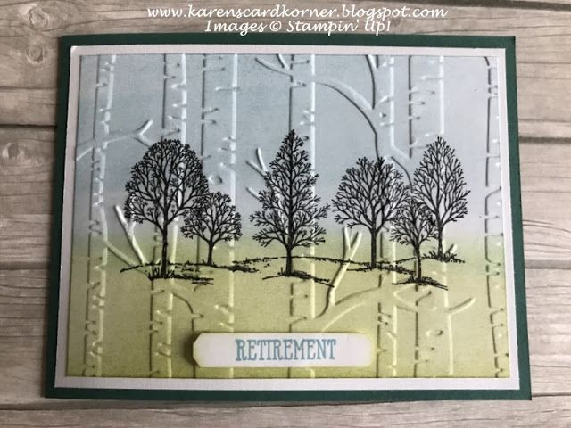 Stampin' Up! Tasteful Textures Retirement Card