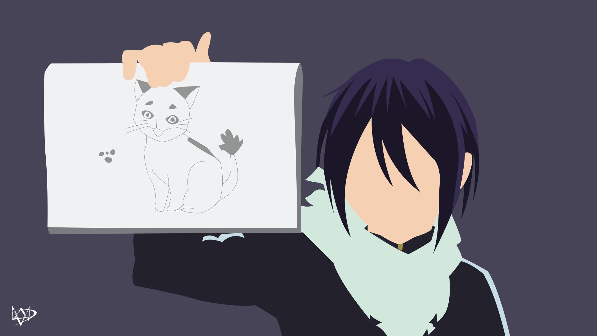 Monokuma (Danganronpa) Minimalist Anime Wallpaper by