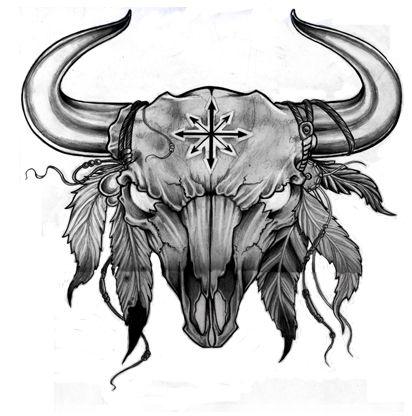 Animal Skull Bull Skull Tattoos Bull Tattoos Taurus Constellation Tattoo
