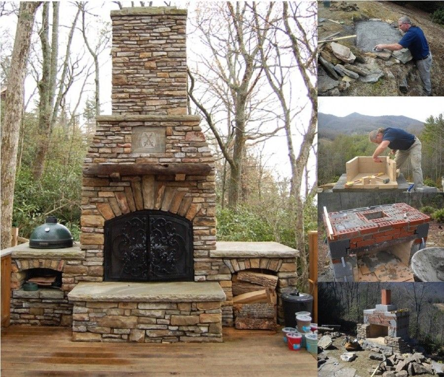 How To Build An Outdoor Fireplace Like A Pro | Diy outdoor fireplace