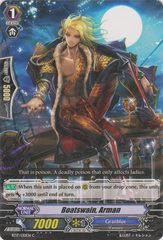 Chief of the Deck, Arman - Cardfight!! Vanguard Wiki