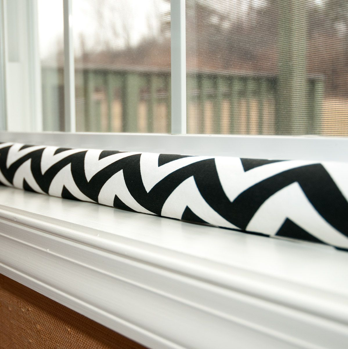 Keeping A Winter Draft Out Of Your Home    My Black And White Chevron Draft  Stopper Is Featured Here!