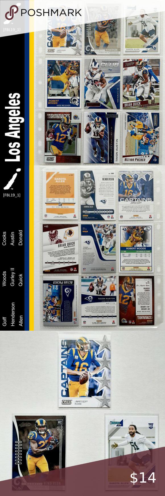 Los Angeles Rams 9 Card Lot Fbl19 1 In 2020 Los Angeles Rams Clothes Design Brighton Map
