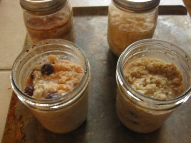 Oatmeal in the crock pot.