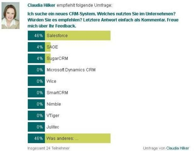 CRM: Xing-Umfrage (Teil 4)