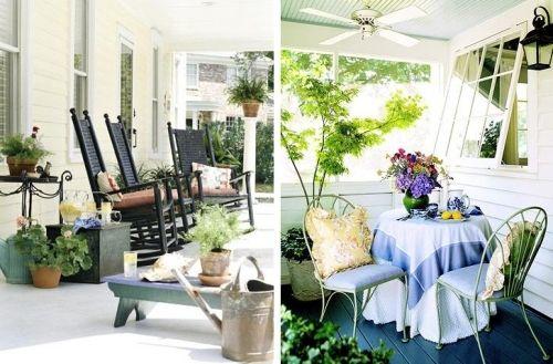 Terrassen » Ideen für sonnige Terrasse mit gemütlichen Outdoor